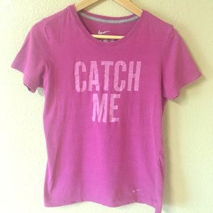 98c6c2e3383 ... nike slim fit t Shirt pink catch me if you can